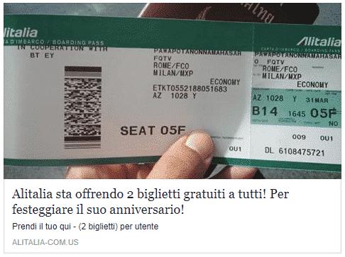 BUFALA - Alitalia Regala 2 Biglietti a Tutti!